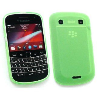 BlackBerry 9900 / 9930 Bold Touch Rubber TPU Gel Case Cover Skin Frosted Pattern Green By Kit Me Out Cell Phones & Accessories