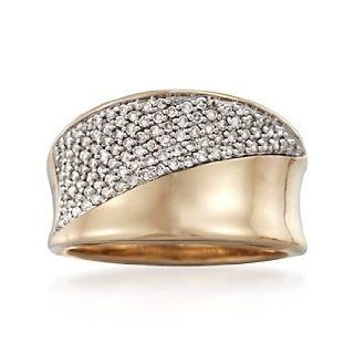 .50 ct. t.w. Diamond Pave Ring in 14kt Yellow Gold. Size 9 Jewelry Products Jewelry
