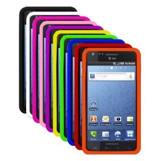 Ten Silicone Cases for Samsung Infuse 4G / i997   Black, White, Hot Pink, Light Pink, Purple, Yellow, Green, Blue, Red, Orange Cell Phones & Accessories