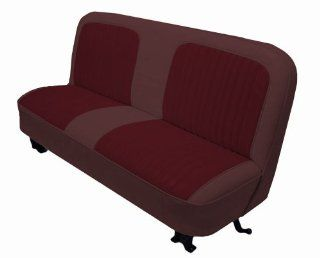 Acme U107 N997 Front Maroon Vinyl Bench Seat Upholstery with Burgundy Encore Velour Pleated Inserts Automotive