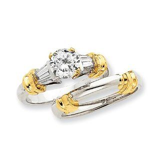 14k Two tone AAA Diamond engagement ring Diamond quality AAA (SI2 clarity, G I color) Jewelry