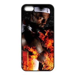 NBA Miami Heat Super Star Lebron James Iphone 5 Case Cover Plastic Material. Apple Iphone Custom Case 5 Pretecter Cell Phones & Accessories