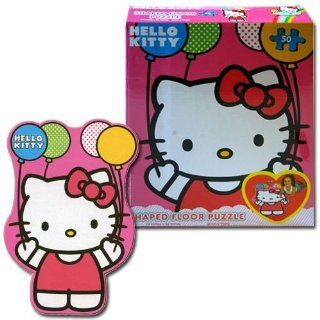 Hello Kitty Shaped Floor Puzzle   Kids Large Puzzle Toys & Games