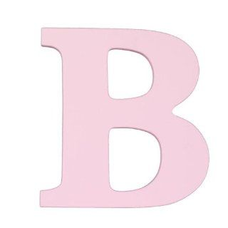 "Wooden Letter ""B"" Color Pink   Nursery Wall Decor"