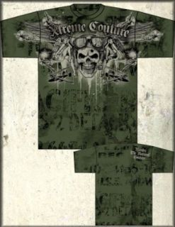 Xtreme Couture Randy Couture Death From Above Signature Tee Shirt in Military Green UP TO XXXL / 3XL at  Men�s Clothing store