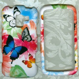 butterfly Hard phone Cover Case Protector LG Enlighten VS700 Verizon rubberized Cell Phones & Accessories