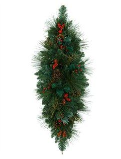 "36"" BH Greenbrier Mountain Pine Artificial Christmas Swag   Unlit   Christmas Trees"