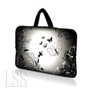 LSS Neoprene Laptop Tablet Sleeve W. Hidden Handle Case Fits Apple Ipad 1 Ipad 2 Ipad 3/Kindle Fire / Samsung Galaxy Tablet / Asus Eee Pad / Acer Iconia Tab /Acer Aspire one/Dell inspiron mini/Samsung N145/Toshiba/Kindle DX/Lenovo S205/HP Touchpad Mini 210