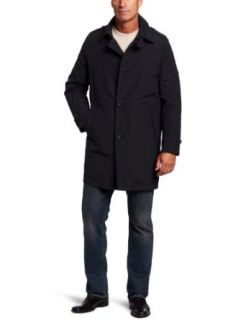Tommy Hilfiger Men's Trench Coat with Zip Out Lining, Black, X Large at  Men�s Clothing store