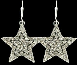 From the Heart Beautiful Christmas Star Earrings Sparkling with Clear Crystal RhinestonesApproximately 1.5 inches long & 1 1/4 inch wide  Gift Boxed. Celebrate Christmas with these Beautiful Earrings. Perfect Gift for the Woman You Love  Sports