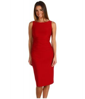 KAMALIKULTURE Sleeveless Shirred Waist Dress Womens Dress (Red)