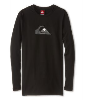Quiksilver Kids Solid Streak L/S Surf Shirt Boys Swimwear (Black)