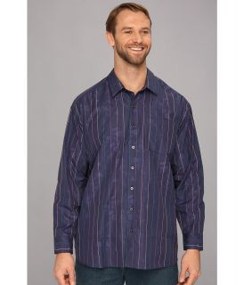Tommy Bahama Big & Tall Big Tall Segrada Stripe L/S Shirt Mens Long Sleeve Button Up (Navy)