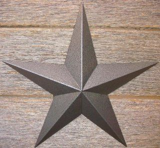 "10 Inch Heavy Duty Metal Barn Star Painted Hammered Gray. The Hammered Paint Effect Allows the Star to Look Great in Either a Contemporary or Rustic Theme. This Tin Barn Star Measures Approximately 10"" From Point to Point (Left to Right). The Barnstar"