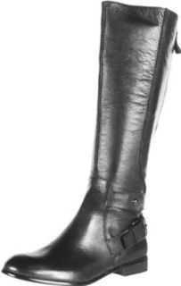 Enzo Angiolini Women's Valetta Knee High Boot,Black Leather,6 M US Shoes