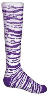 Red Lion Safari Zebra Striped Athletic Socks WHITE/PURPLE 6 8.5 (NOT SHOE SIZE  SEE SIZES BELOW)  Athletic Hoodies  Sports & Outdoors