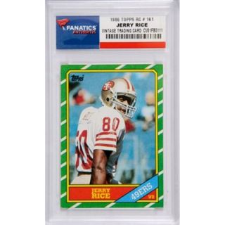 Jerry Rice San Francisco 49ers 1986 Topps #161 Rookie Card   FansEdge