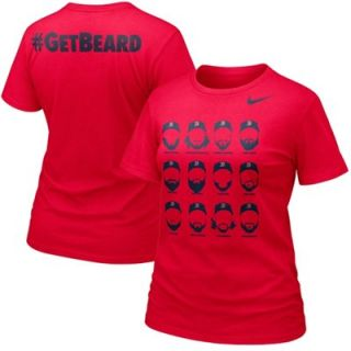 Nike Boston Red Sox Ladies Get Beard T Shirt   Red