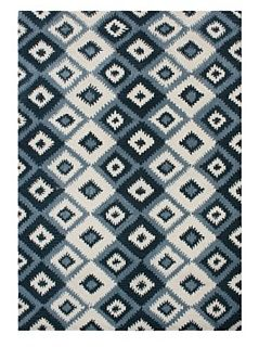 Alliyah Rugs New Zealand Wool Rug, Blue Multi, 5' x 8'   Area Rugs