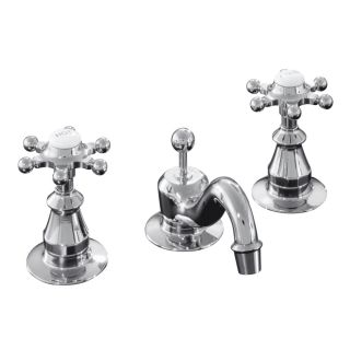 KOHLER Antique Polished Chrome 2 Handle Widespread Bathroom Sink Faucet (Drain Included)