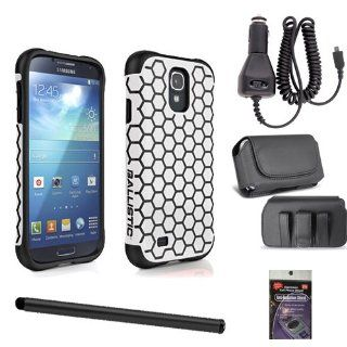 Ballistic Aspira Tough Cover White and Black Honeycomb for Samsung Galaxy S4. Comes with Stylus Pen, Car Charger, Case that fits your phone with the cover on it and Radiation Shield. Cell Phones & Accessories