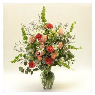 Faith Fresh Flower Arrangement Mothers Day Flowers Gift Idea for Her Birthday Gift  Grocery & Gourmet Food