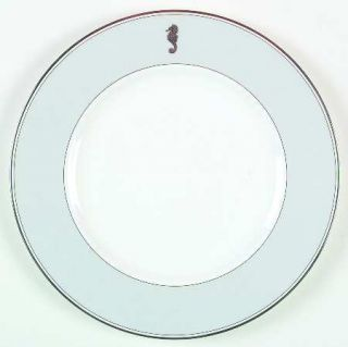 Waterford China Seahorse Ocean Dinner Plate, Fine China Dinnerware   Gray Rim, P
