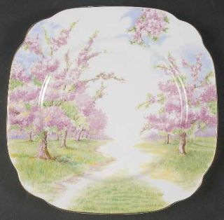 Royal Albert Blossom Time Luncheon Plate, Fine China Dinnerware   Hampton, Lands