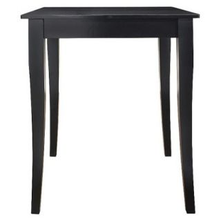 Dining Table Crosley Cabriole Leg Pub Table Set   Black