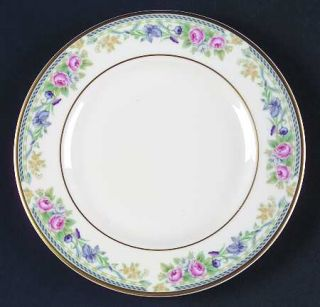 Royal Doulton Eleanor Bread & Butter Plate, Fine China Dinnerware   Pink Roses,P