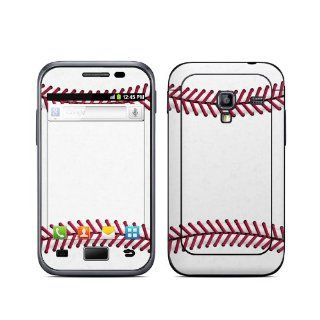Baseball Design Protective Decal Skin Sticker (High Gloss Coating) for Samsung Galaxy Ace Plus GT S7500 Cell Phone Cell Phones & Accessories