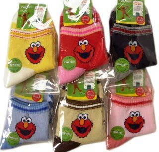 Sesame Street Elmo Socks x 3 pair Set  Infant And Toddler Socks  Baby