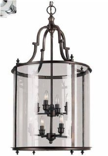 Trans Globe 8703 PC Eight Light Pendant, Polished Chrome Finish   Ceiling Pendant Fixtures