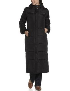 "MICHAEL Michael Kors Women's 50"" Full Length Down Coat With Faux Fur On Hood, Black, X Small"