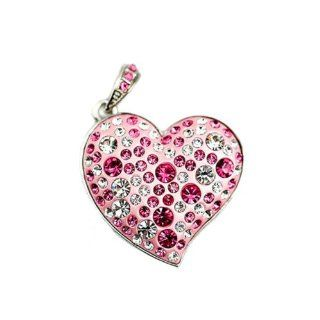 ZPS 32GB USB 2.0 Bling Crystal Heart Model Flash Memory Stick Pen Drive Enough Pink Computers & Accessories