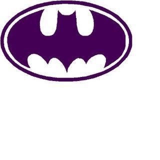 "Batman Logo 3"" PURPLE Decal Sticker"