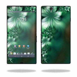 MightySkins Protective Vinyl Skin Decal Cover for Sony Xperia Z 4G LTE T Mobile Sticker Skins Abstract Flower Cell Phones & Accessories