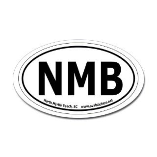 North Myrtle Beach, SC Oval Car Decal by ovalstickers
