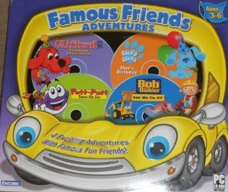 Famous Friends Adventures   Clifford the Big Red Dog Thinking Adventures, Blue's Clues Blue's Birthday, Putt Putt Saves the Zoo, and Bob the Builder Can We Fix It? Software