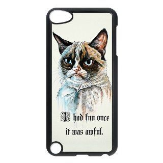 Cute Funny Grumpy Cat Ipod Touch 5th Case Cover Quotes I had fun once it was awful Cell Phones & Accessories