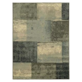 Modern Squares Area Rug   Blue/Gray (710x10)