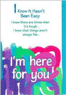 Blue Mountain Arts Encouragement Greeting Card I Know It Hasn't Been Easy Health & Personal Care
