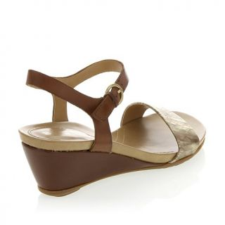 "Naturalizer ""Salma"" Leather Two Toned Wedge Sandal"