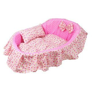 Pink Pet Mat Dog Cat Puppy Soft Sleeping Pad Bed Plush Cushion Cozy Nest M Size