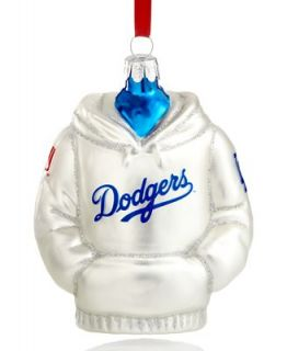 Kurt Adler Glass MLB Los Angeles Dodgers Hoodie Ornament   Holiday Lane