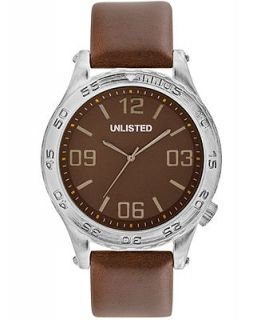 Unlisted Watch, Mens Brown Synthetic Leather Strap 48mm UL1266   Watches   Jewelry & Watches