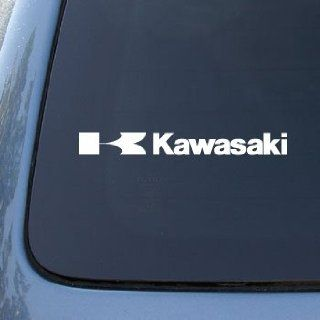 Kawasaki Motorcycles   Car, Truck, Notebook, Vinyl Decal Sticker #2506  Vinyl Color White Automotive
