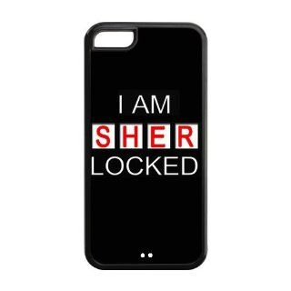 Hot TV Series Sherlock TPU Inspired Design Case Cover Protective For Iphone 5c iphone5c NY239 Cell Phones & Accessories