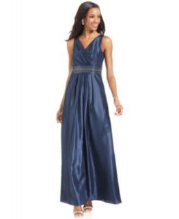 Calvin Klein One Shoulder Beaded Gown   Dresses   Women