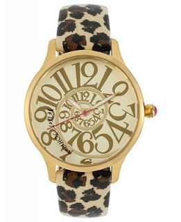 Betsey Johnson Watch, Womens Leopard Print Patent Leather Strap 38mm BJ00040 16   Watches   Jewelry & Watches